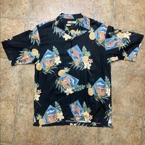 TOMMY BAHAMA Pin Up Girl Hawaiian Shirt sz M